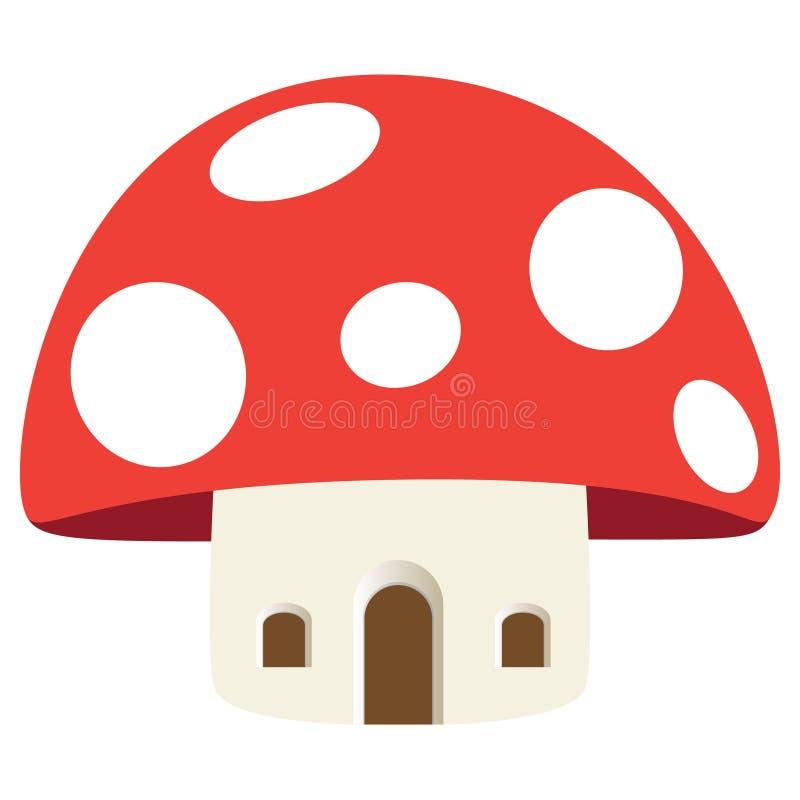 Ilustração da casa vermelha do cogumelo ilustração royalty free