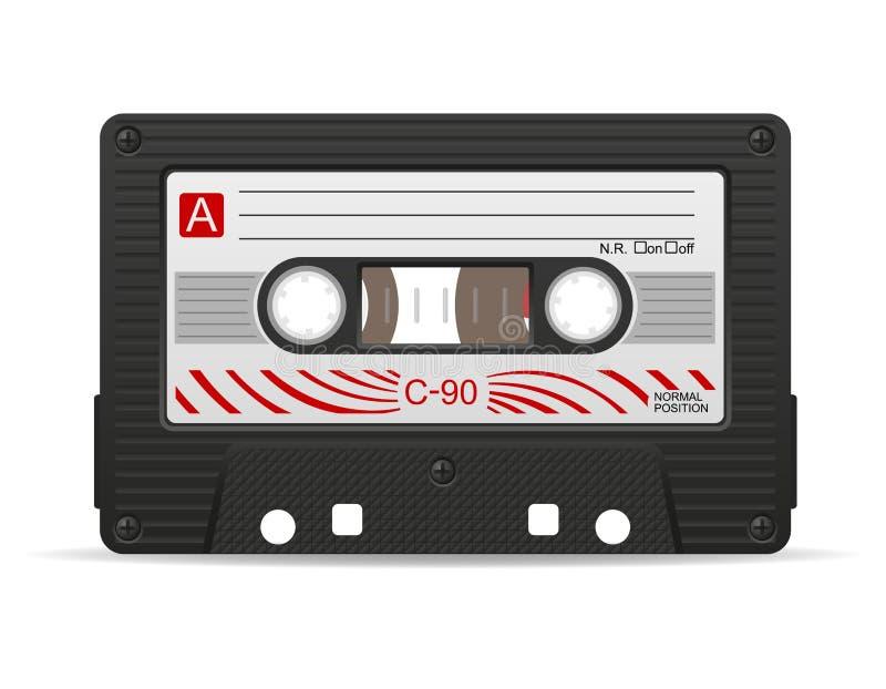 Ilustração da cassete áudio ilustração do vetor