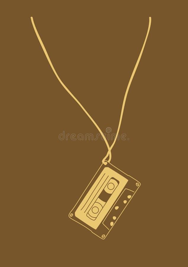 Ilustração da cassete de banda magnética imagens de stock royalty free