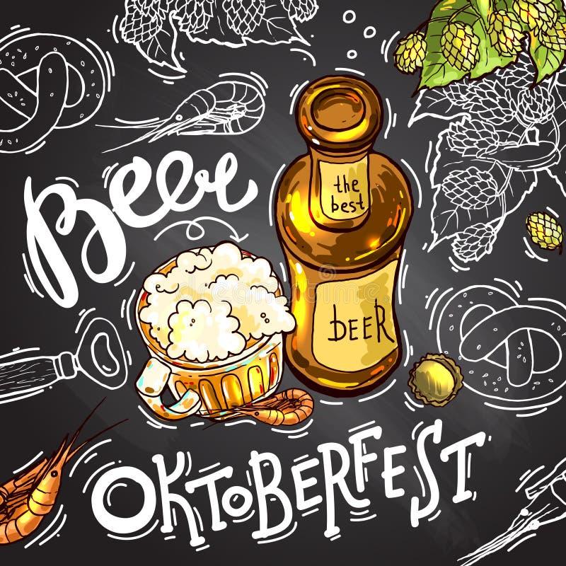 Ilustração da cerveja fotos de stock royalty free