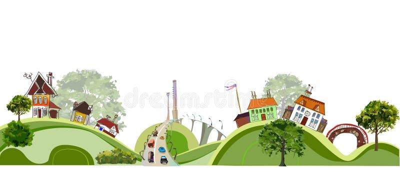 Ilustração da cidade, coleção da cidade ilustração stock