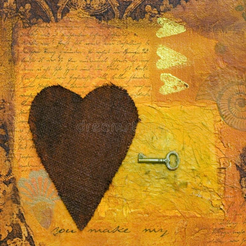 Ilustração da colagem do coração ilustração royalty free
