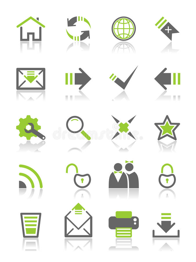 Web-ícones da coleção ilustração stock