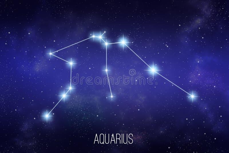 Ilustração da constelação do zodíaco do Aquário ilustração royalty free