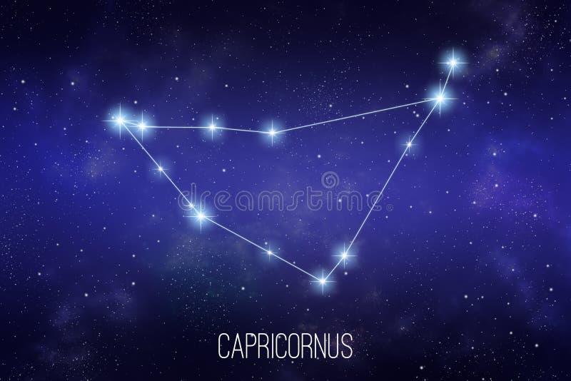 Ilustração da constelação do zodíaco de Capricornus ilustração royalty free