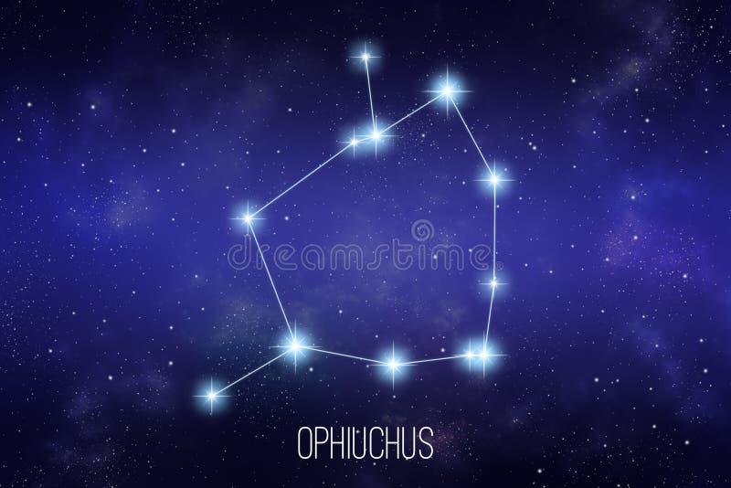 Ilustração da constelação do zodíaco de Ophiuchus ilustração royalty free