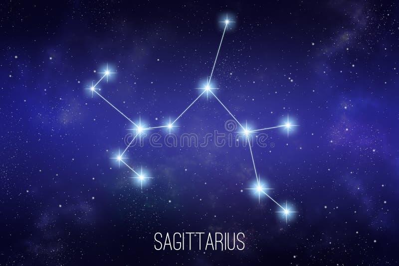 Ilustração da constelação do zodíaco do Sagitário ilustração royalty free