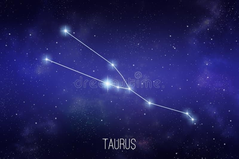 Ilustração da constelação do zodíaco do Touro ilustração stock