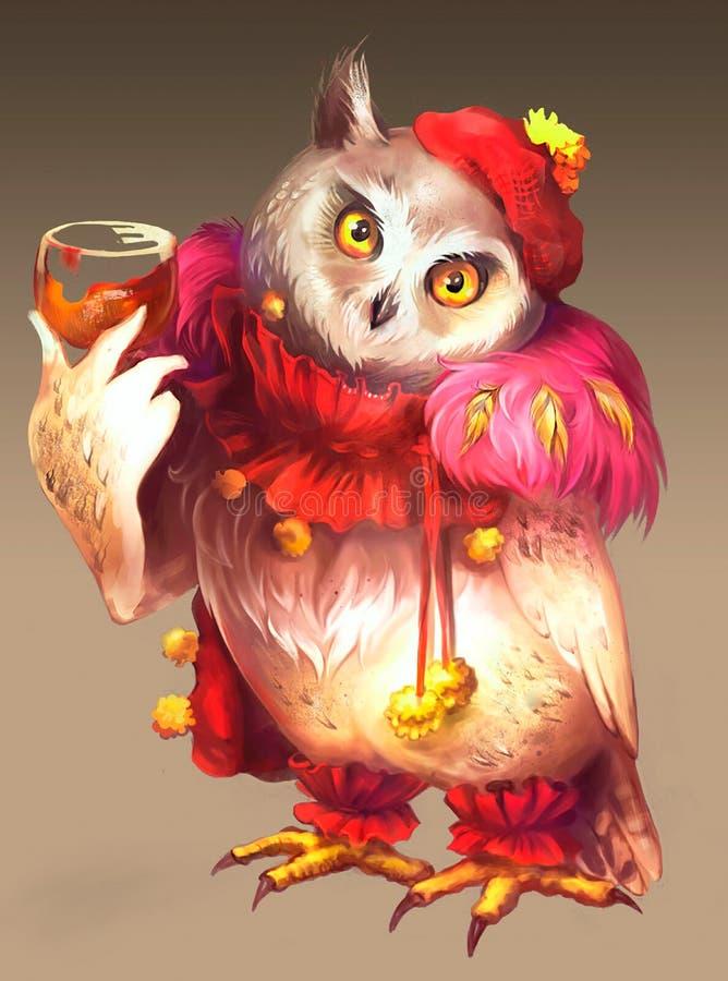 Ilustração da coruja feericamente ilustração do vetor