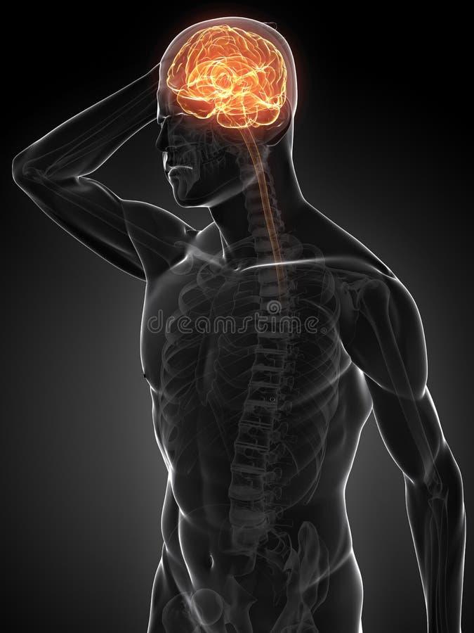 ilustração da dor de cabeça 3d ilustração royalty free