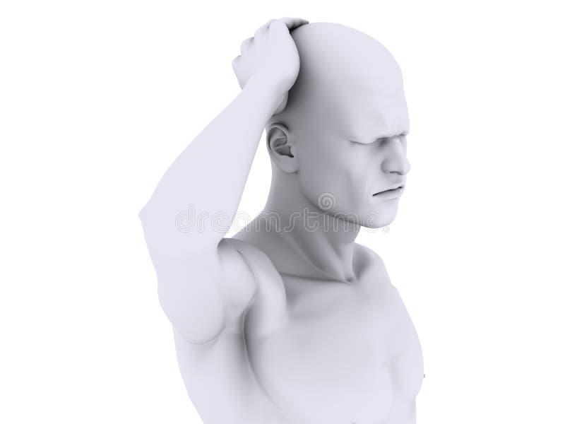Ilustração da dor de cabeça/enxaqueca ilustração royalty free