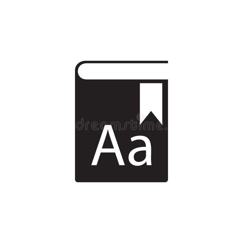 ilustração da enciclopédia Elemento do ícone da biblioteca para apps móveis do conceito e da Web O ícone detalhado da enciclopédi ilustração do vetor