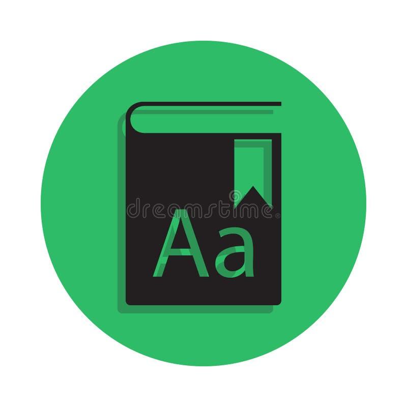 ilustração da enciclopédia Elemento do ícone da biblioteca para apps móveis do conceito e da Web O ícone detalhado da enciclopédi ilustração stock