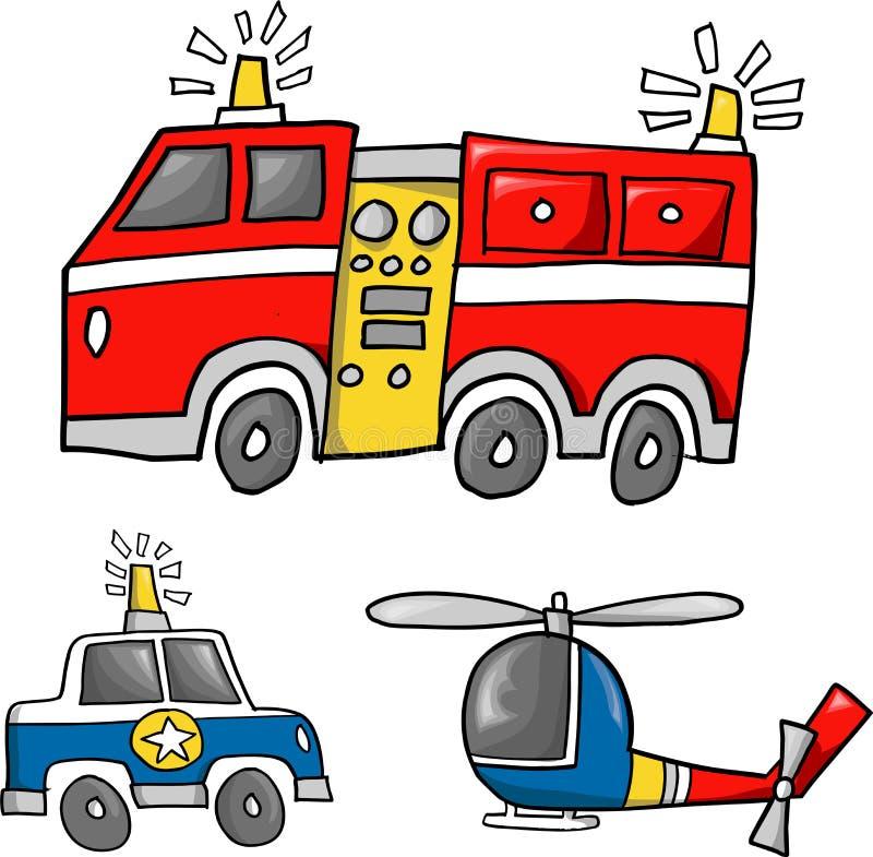 Ilustração da equipa de salvamento ilustração stock