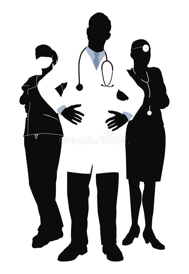 Ilustração da equipa médica ilustração stock
