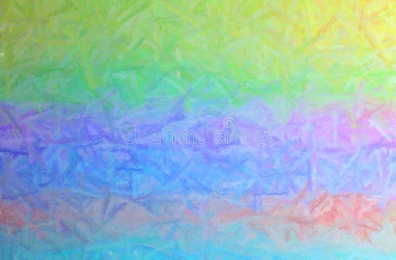A ilustração da escova longa amarela, verde, roxa, azul e alaranjada afaga o fundo horizontal pastel ilustração do vetor