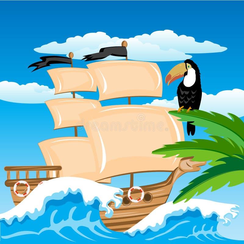 Download Nave Da Navigação No Trópico Ilustração do Vetor - Ilustração de fauna, viagem: 29842435