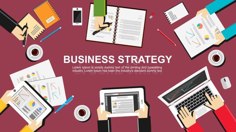 Ilustração da estratégia empresarial ilustração do vetor