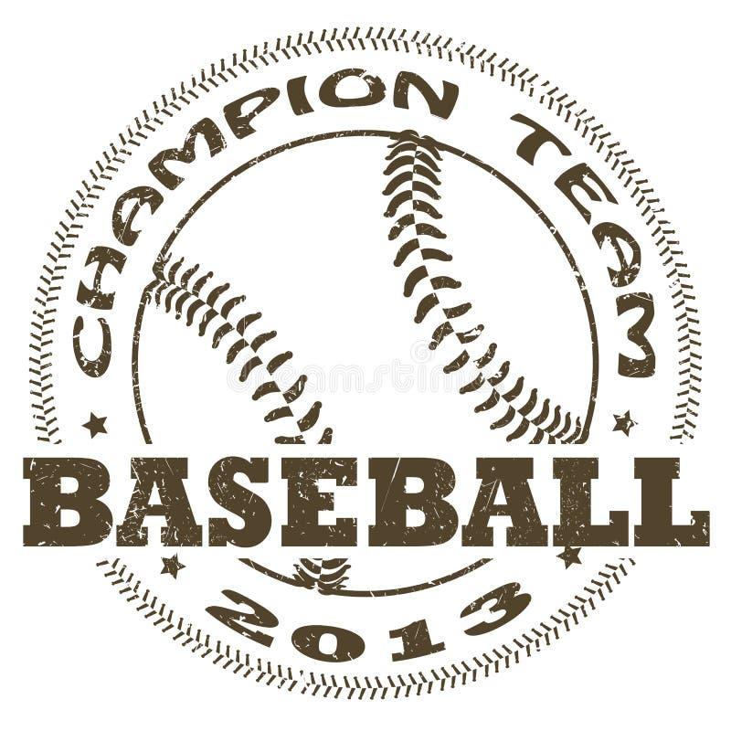 Etiqueta do basebol ilustração stock