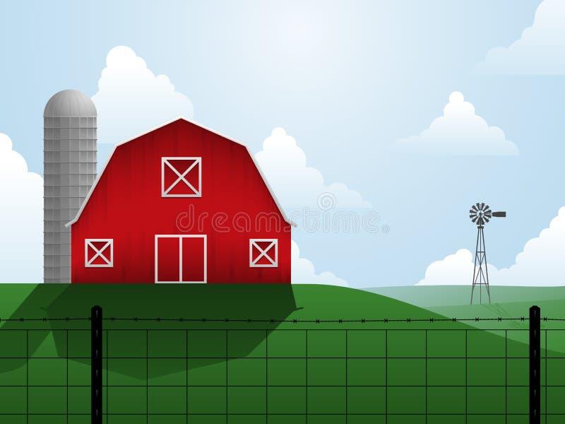 Ilustração da exploração agrícola ilustração do vetor