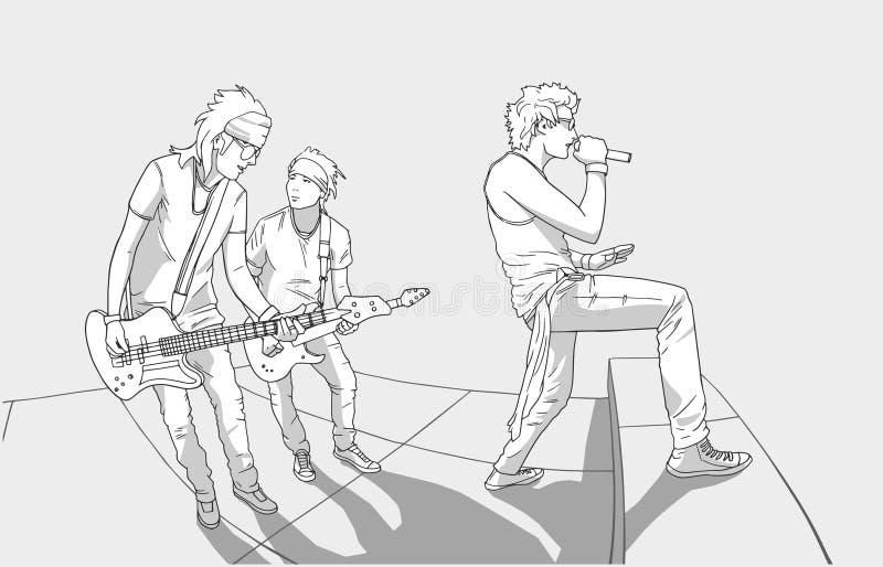 Ilustração da faixa que executa na fase ilustração royalty free