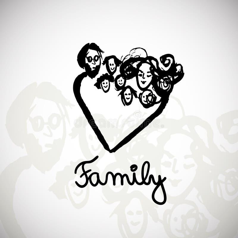 Ilustração da família ilustração stock