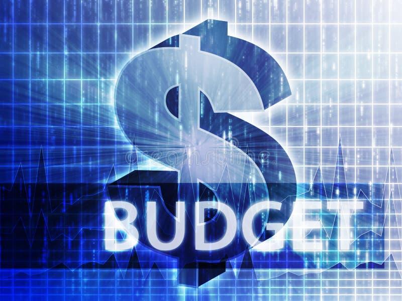 Ilustração da finança do orçamento ilustração royalty free