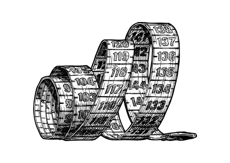 Ilustração da fita métrica ilustração royalty free
