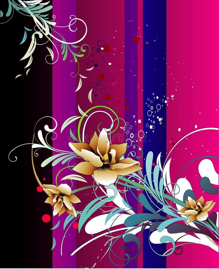 Ilustração da flor do fundo ilustração royalty free