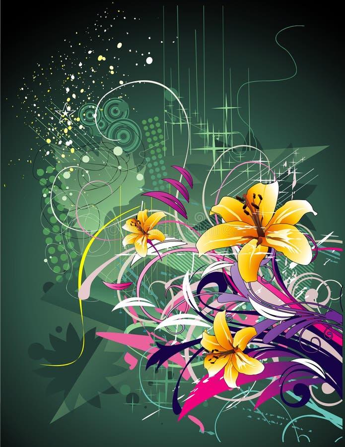 Ilustração da flor do fundo ilustração stock
