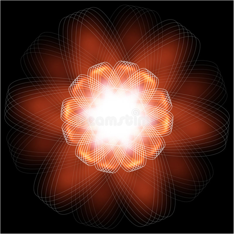 Ilustração da flor do incêndio imagem de stock