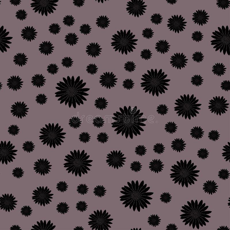 Ilustração da flor no fundo malva ilustração do vetor