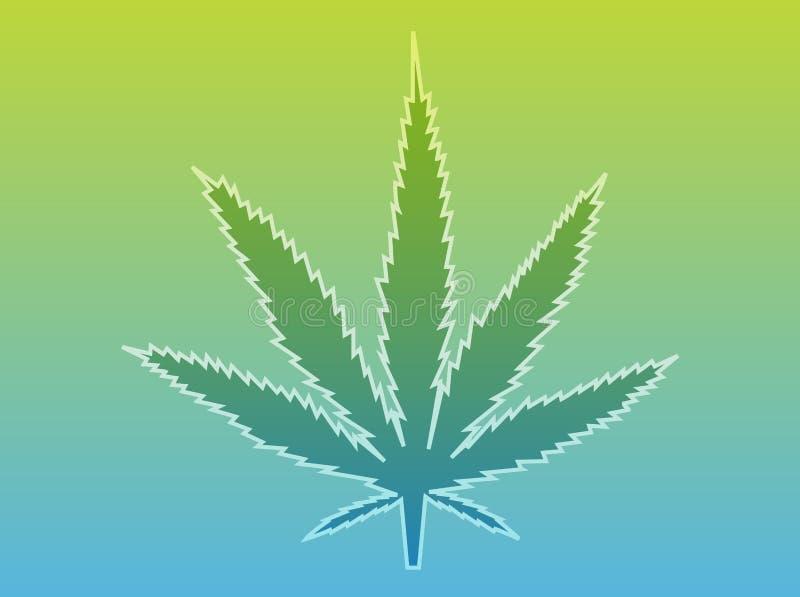 Ilustração da folha da marijuana ilustração royalty free