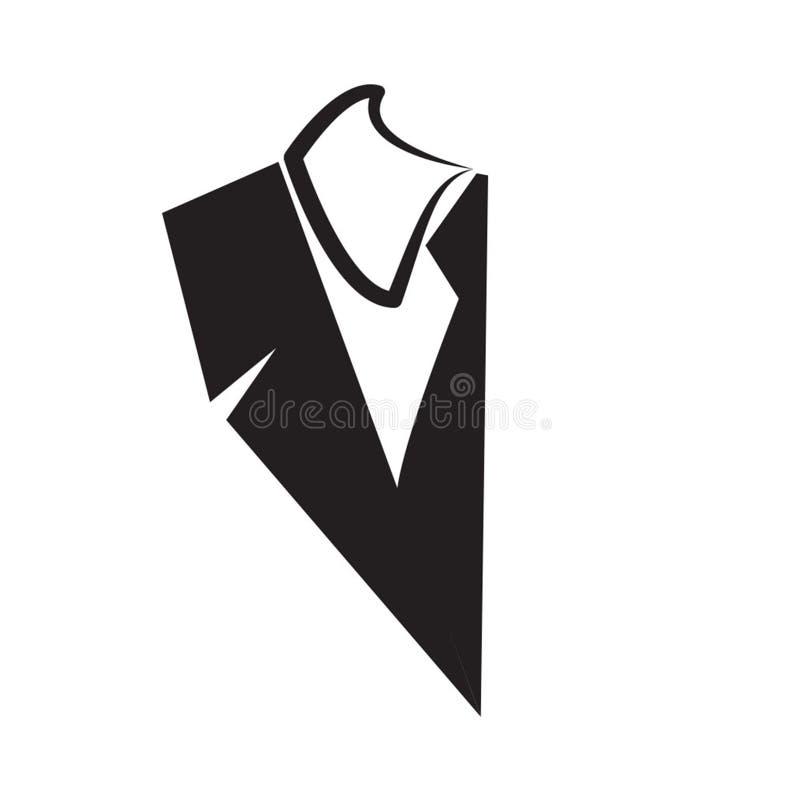 Ilustração da forma para o terno preto ilustração do vetor