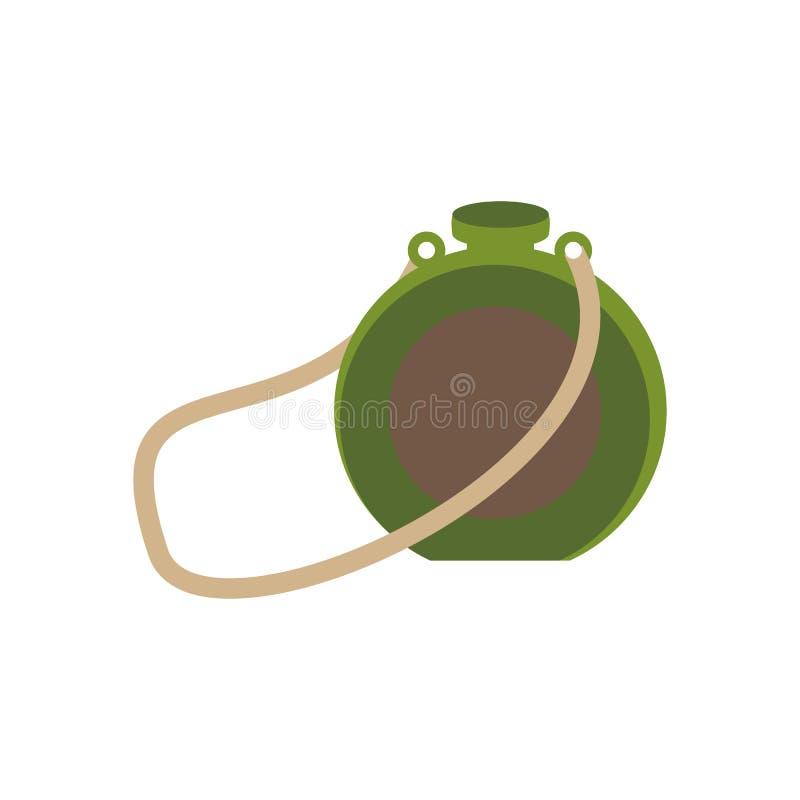 Ilustração da garrafa do turista ilustração royalty free