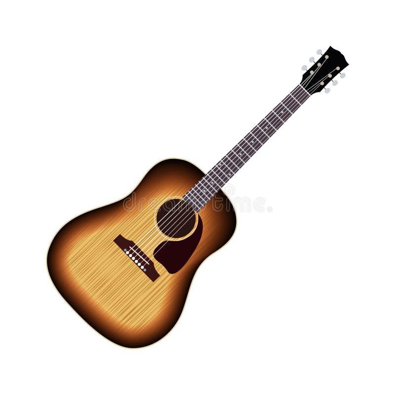 Ilustração da guitarra acústica fotos de stock