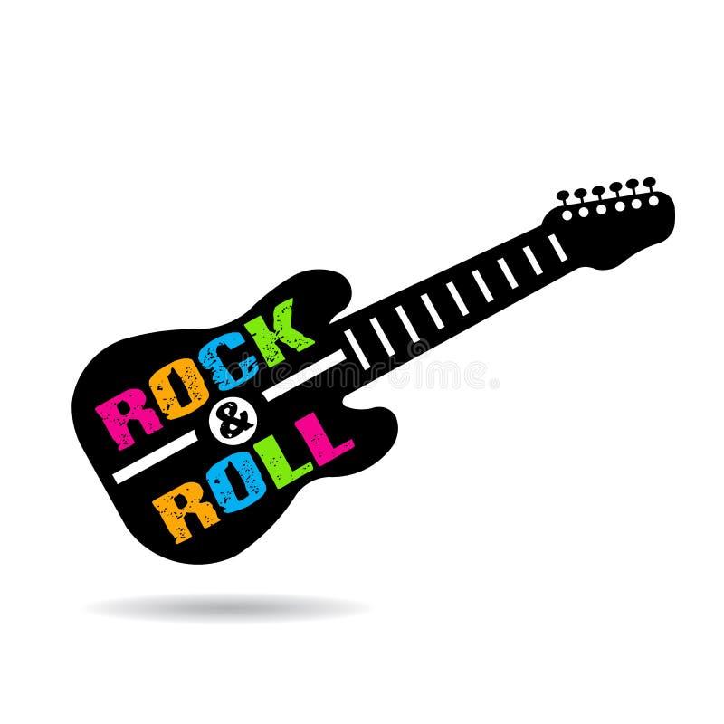 Ilustração da guitarra do rock and roll ilustração stock