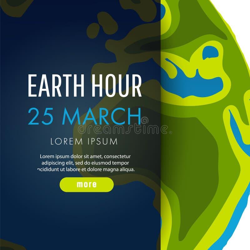Ilustração da hora da terra 25 de março ilustração stock