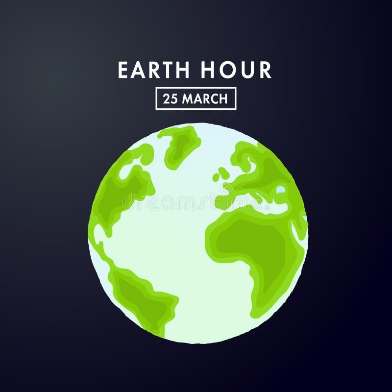 Ilustração da hora da terra 60 minutos ilustração stock