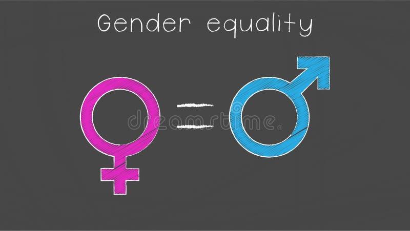 Ilustração da igualdade de gênero ilustração do vetor