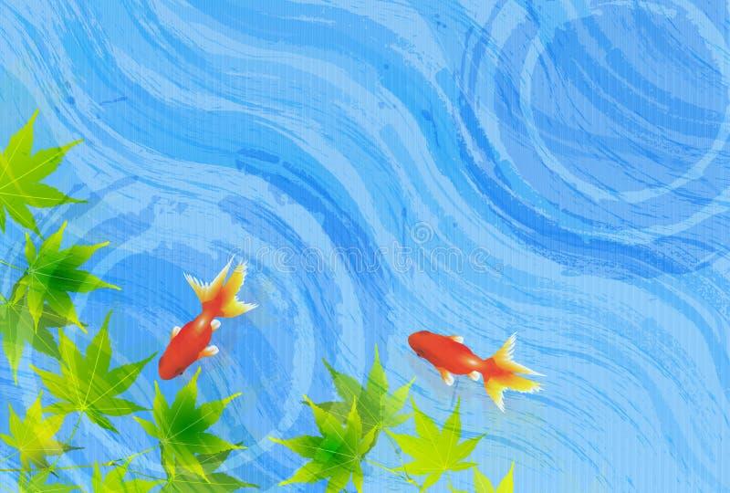 Ilustração da imagem japonesa do verão fotos de stock royalty free