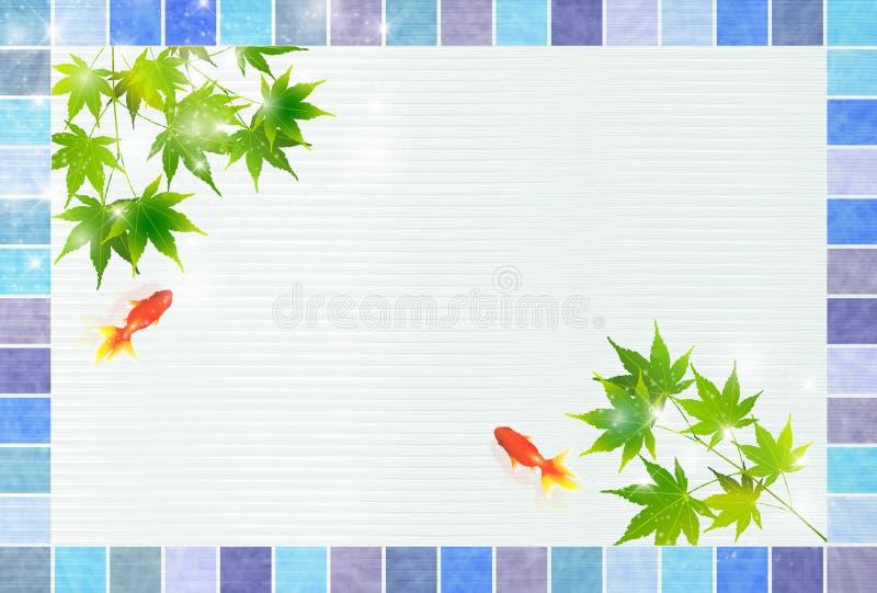 Ilustração da imagem japonesa do verão imagens de stock