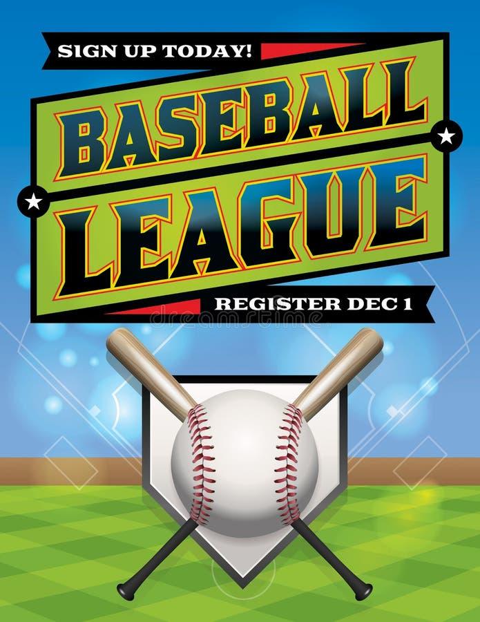 Ilustração da liga de basebol ilustração stock