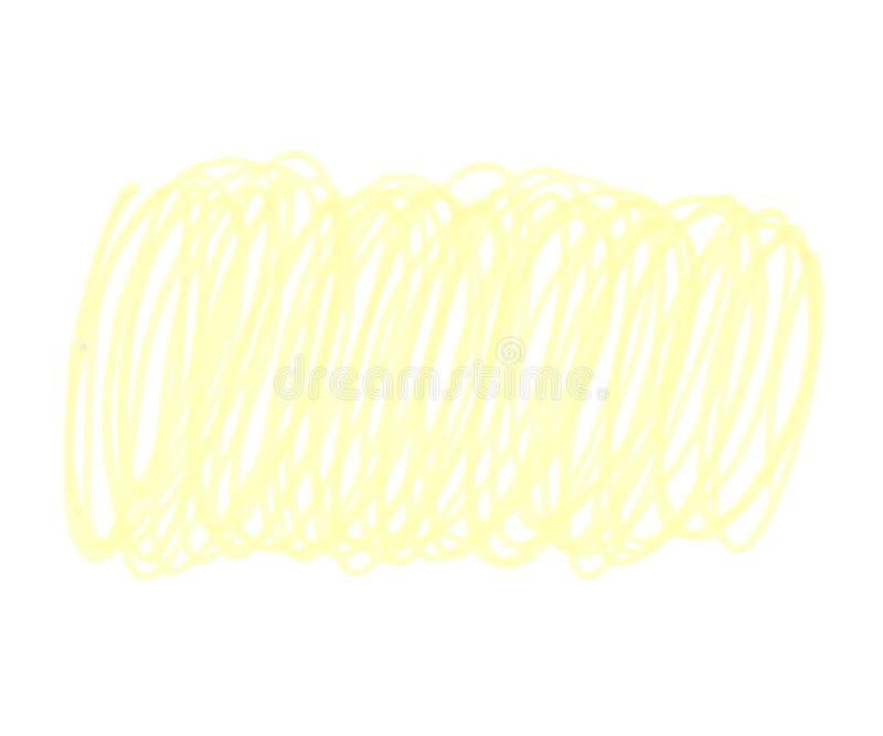 Ilustração da linha ondulada amarela dos marcadores ilustração do vetor