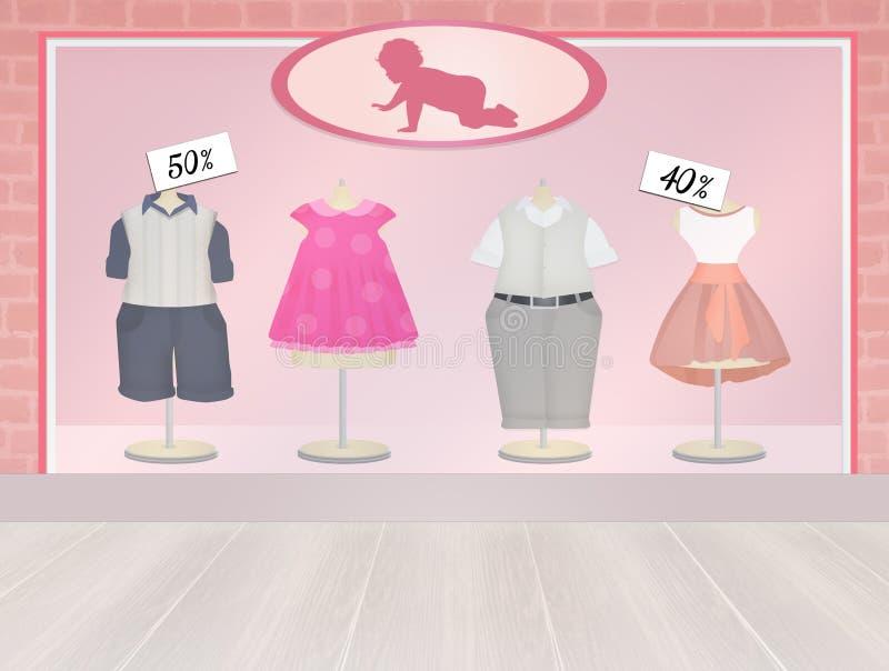 Ilustração da loja do bebê ilustração stock