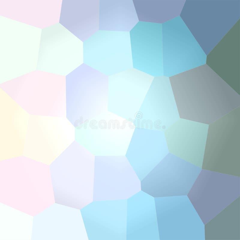Ilustração da luz - fundo gigante azul do quadrado do hexágono ilustração do vetor
