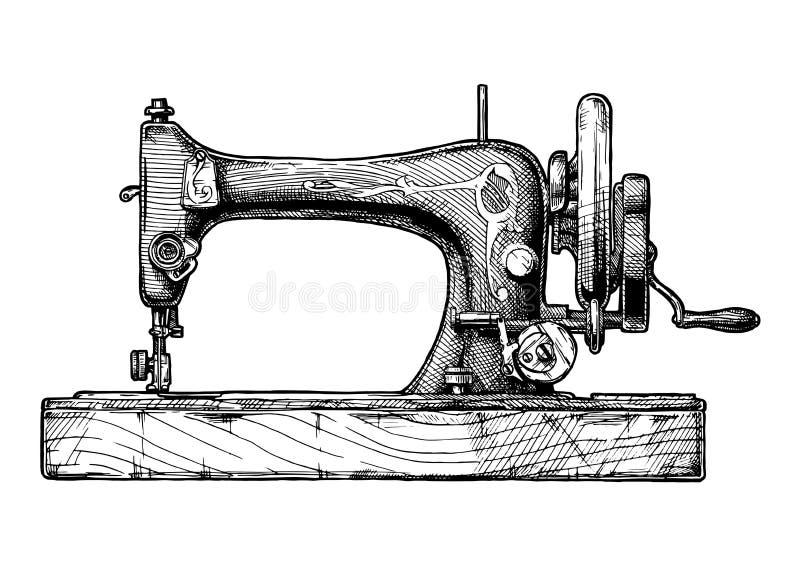 Ilustração da máquina de costura ilustração stock