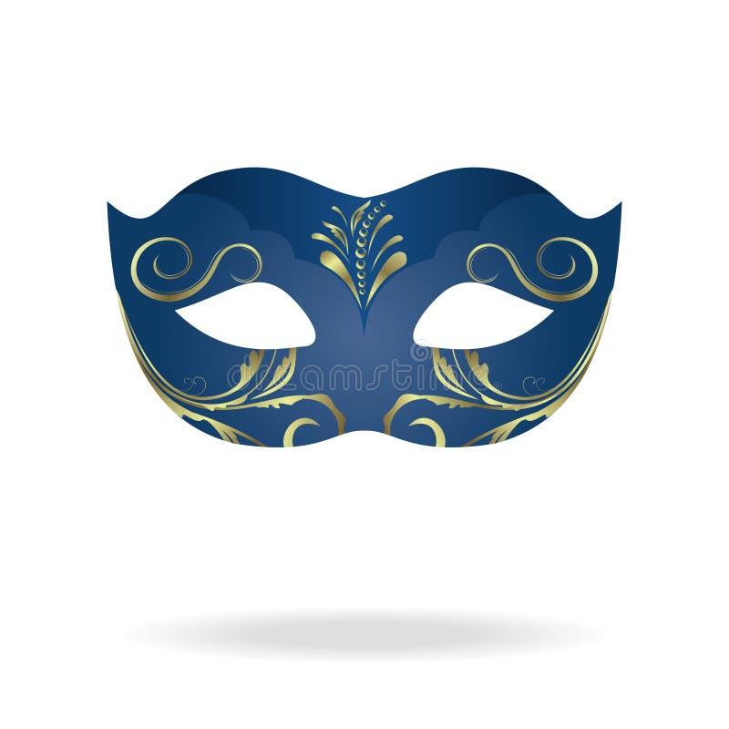 Ilustração da máscara realística do carnaval ou do teatro ilustração stock