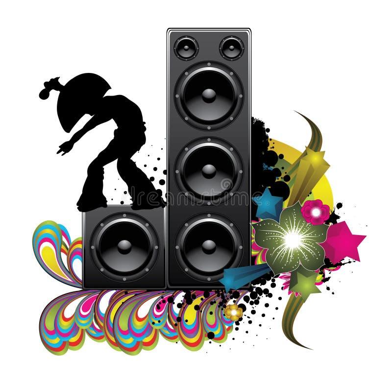 Ilustração da música ilustração stock