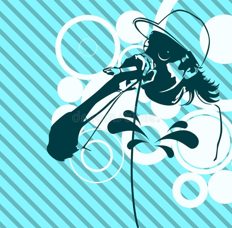 Ilustração da música de batida ilustração do vetor